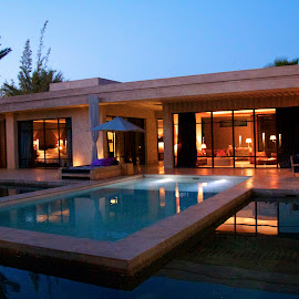 Luxury Morocco by Chris Futcher - Buildings & Architecture Homes ( holiday, marrakech, vacation, pool, summer, morocco )