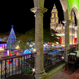 Christmas in Campeche, Mexico by Alan Potter - City,  Street & Park  Historic Districts ( campeche, arches, christmas, holidays, architecture )