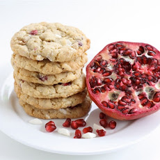 Pomegranate White Chocolate Chunk Cookies