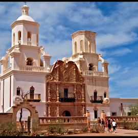 San Xavier Mission by Becky McGuire - Buildings & Architecture Places of Worship ( mcguire, priest, church, xavier, worship, religion, catholic, tvlgoddess, mission, arizona, tucson, service, pray, prayers, becky,  )