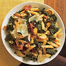 Pasta with Black Kale, Caramelized Onions, and Parsnips