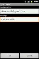 Screenshot of Quick Send