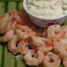 Garlic Shrimp With Wasabi Mayonnaise