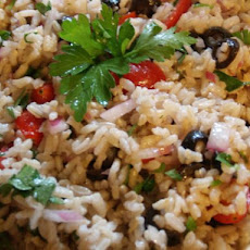 Super Easy Brown Rice Salad