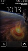 Screenshot of Asteroid Live Wallpaper