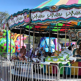 Empty Canival  by Aaron Smith - City,  Street & Park  Amusement Parks ( merry go round, nobody, michigan, colorful, carnival, empty )