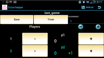 Screenshot of ScoreKeeper