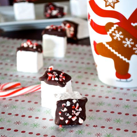 Homemade Marshmallows with Chocolate and Peppermint