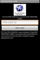 Screenshot of PSN TROPHY CARD