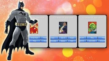 Screenshot of SuperHero Quiz
