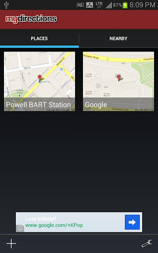 mydirections-google-map-ext for android screenshot
