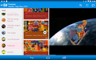 Screenshot of Songs, Cartoons...for Children