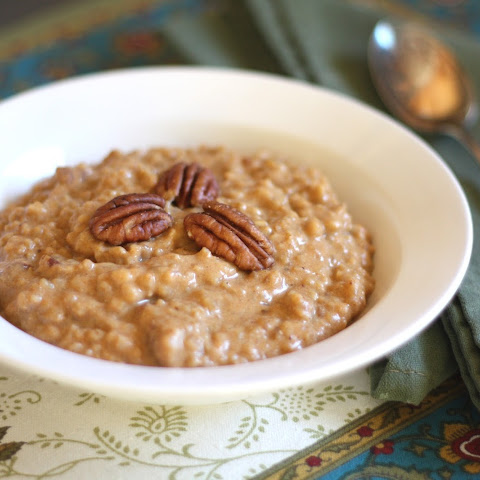Baked Pumpkin Spice and Toasted Pecan Steel Cut Oatmeal