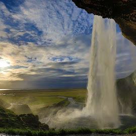 Seljalandsfoss by Rajat Gogri - Landscapes Travel ( iceland, seljalandsfoss, waterfall, foss, tail )