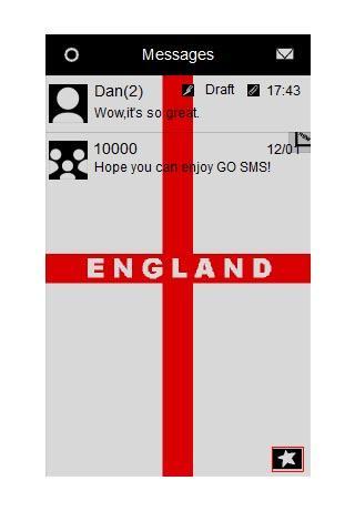 GO SMS Theme - England