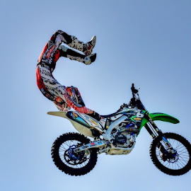 Fake HDR by Madeleine Wilson - Sports & Fitness Motorsports ( sky, hdr, motocross, sports, fast shutter, photoshop )