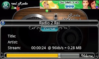Screenshot of real Radio Italy
