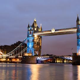 Tower Bridge by Ivelin Donchev - Buildings & Architecture Bridges & Suspended Structures ( london, nikon d610, tower bridge, sigma 50mm f/1.4 art )