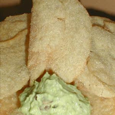 Homemade Texas Chips With Guacamole Spread
