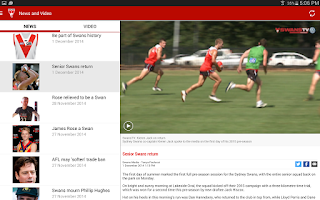 Screenshot of Sydney Swans Official App