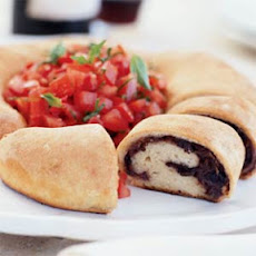 Rollino Veneto (Pizza Rolls from Venice) with Tomato-Basil Salad