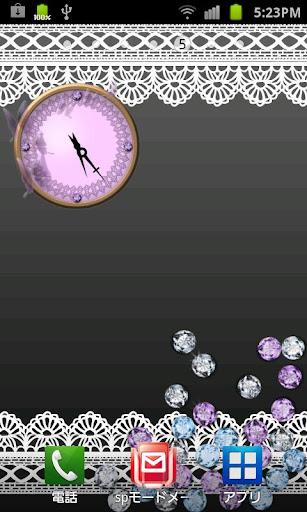 クリスタルアナログ時計ウィジェット