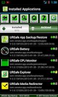 Screenshot of URSafe App Backup/Restore