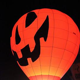 Halloween Pumpkin Hot Air Balloon by Amara Dempsey - Transportation Other ( ride, hot air balloon, rides, novice, pumpkin, aircraft, sports, sport, festival, transportation, hot air balloons, halloween,  )