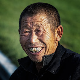Yinhong Laborer by Dave Sansom - People Portraits of Men ( private golf club, dave sansom, china golf, yinhong, golf course photography, beautiful golf course, rick robbins, yintai hongeye golf club, golf course in china, beijing, china )