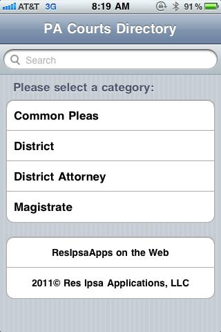 Pennsylvania Courts Directory