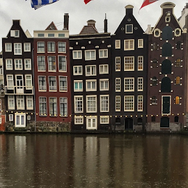 Typical Dutch Old Houses in Amsterdam ... by Maritha Graph - Buildings & Architecture Homes ( typicaldutch, oldhouse, amsterdam, holland, nederland )