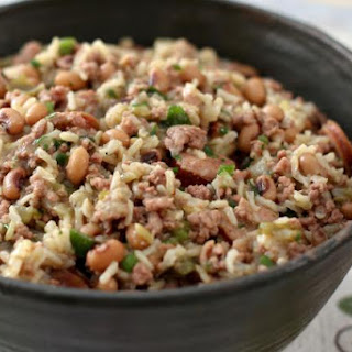 Pork and Sausage Jambalaya with Black-Eyed Peas