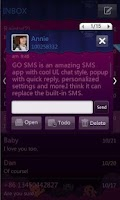 Screenshot of GO SMS Pro Purple theme