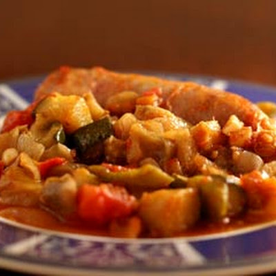 Italian Sausages with Ratatouille
