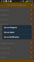 Screenshot of Cat Sounds Funny Ringtones