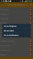 Screenshot of Cat Sounds Funny Ringtones