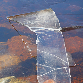 Ice art 1 by Mia Ikonen - Nature Up Close Water ( ice, art, finland, cracked, spring,  )
