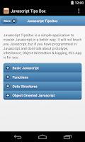 Screenshot of Javascript Tips Box