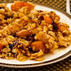 Low-Sugar Pumpkin and Apple Crumble