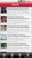 Screenshot of Arsenal: FanZone