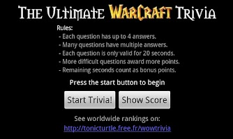 Screenshot of WoW Trivia