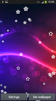 Screenshot of Abstract Stars Live Wallpaper