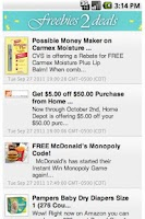 Screenshot of Freebies 2 Deals