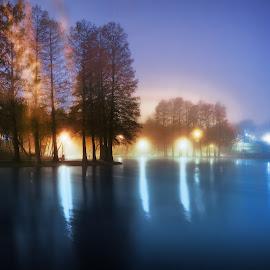 Când n-am ce face, ţop în parc! by Constantinescu Adrian Radu - City,  Street & Park  City Parks ( lights, park, lake, night,  )