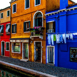 by Adeline Tan - Buildings & Architecture Homes ( colourful, burano, homes, italy, island,  )