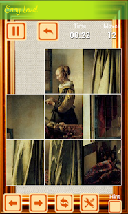 Painting In Slide Puzzle - screenshot