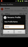 Screenshot of Phone Profiles