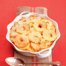 Sweet Potato and Ontario Apple Gratin
