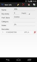 Screenshot of Shopping List - My iList