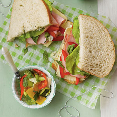 Ham-and-Fontina Sourdough Sandwiches